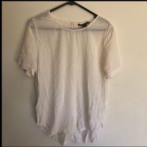 Armani Exchange white silk blouse size large